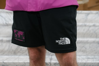 A close up picture of men's shorts.