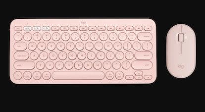 K380 For Mac Multi-Device Keyboard M350 Logitech Pebble Mouse In Rose