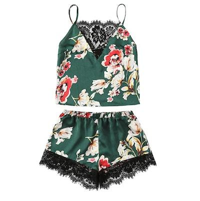 DIDK Cami and Shorts Pajama Set