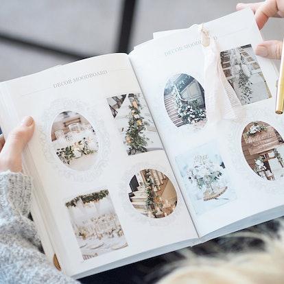 Luxury Light Grey + Rose Gold Wedding Planner Book
