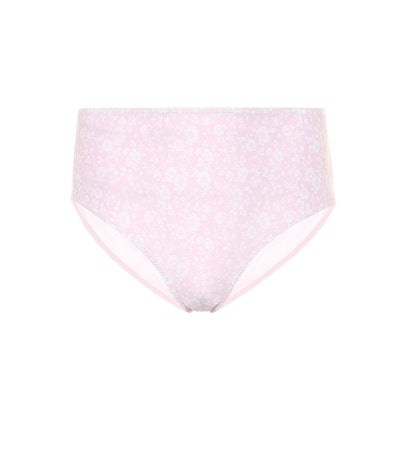 Floral High-Rise Bikini Bottoms