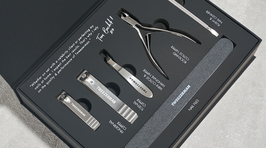 Tweezerman in tandem with Tom Bachik just recently launched a new nail kit.