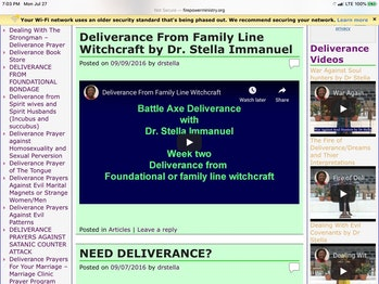 Screenshot of Dr. Immanuel's website.