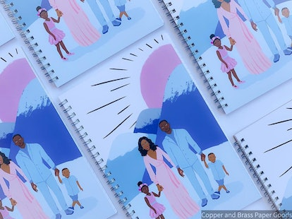 Black Family A5 College Ruled Notebook; Jack and Jill Inspired Journal