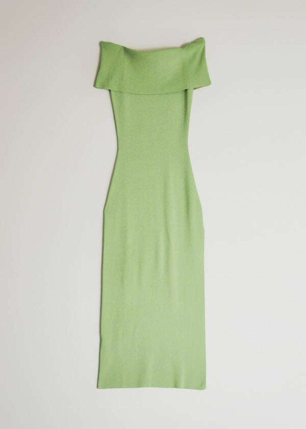 Quepam Knit Dress in Light Olive Green