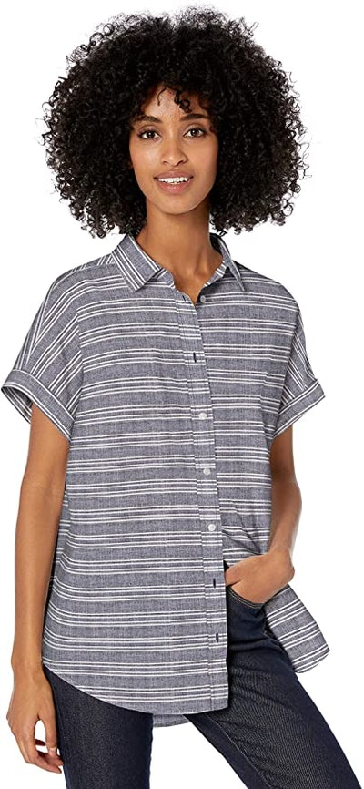 Amazon Brand - Goodthreads Women's Washed Cotton Short-Sleeve Shirt