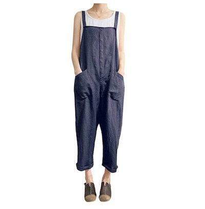 Gihuo Linen Jumpsuit
