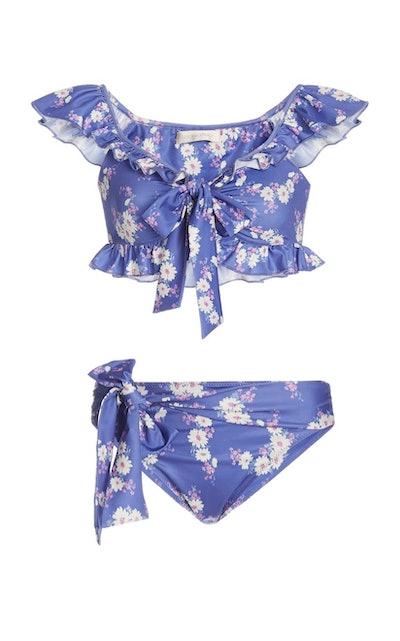 Devi Tie-Detailed Floral-Print Bikini Set