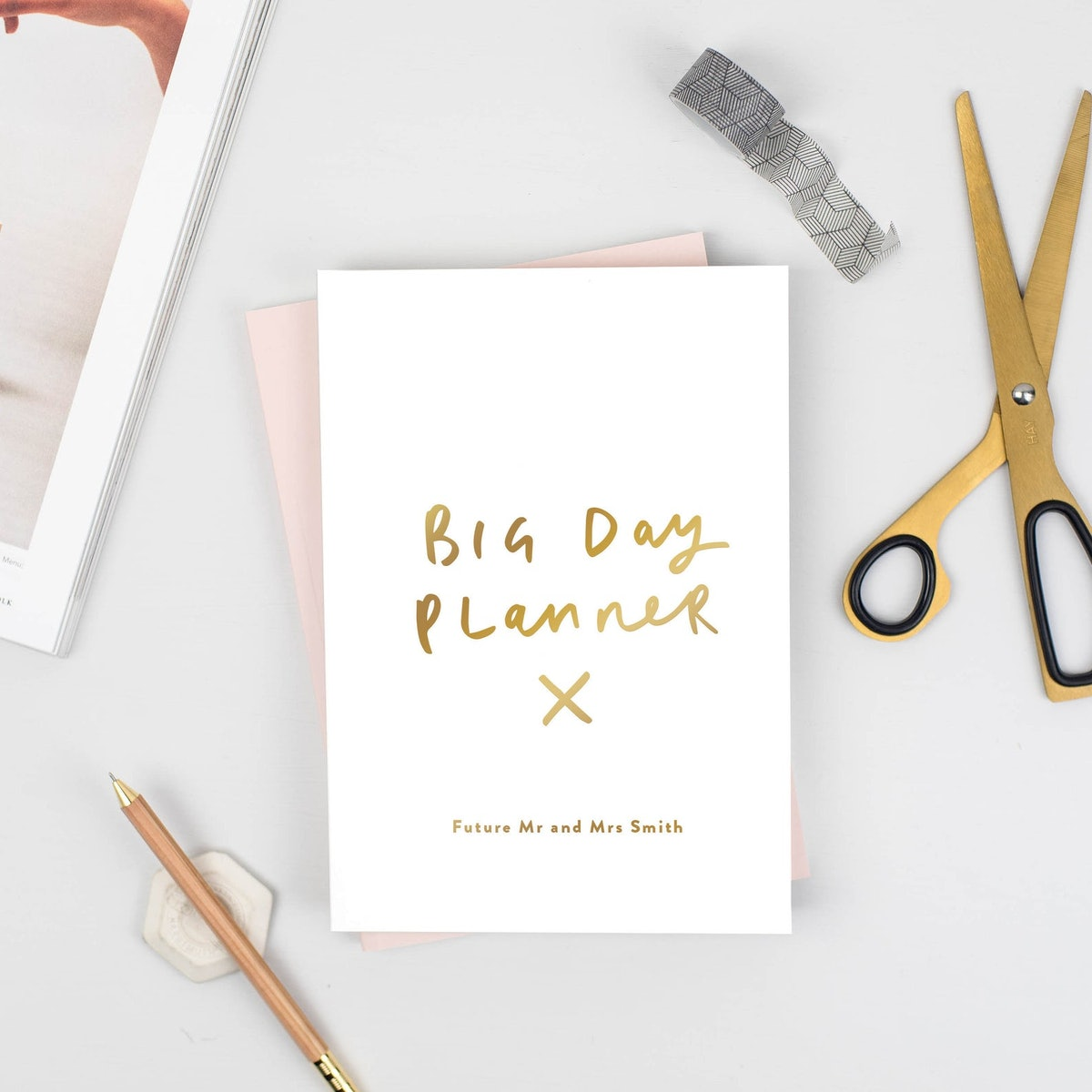 Big Day Planner Personalised Notebook