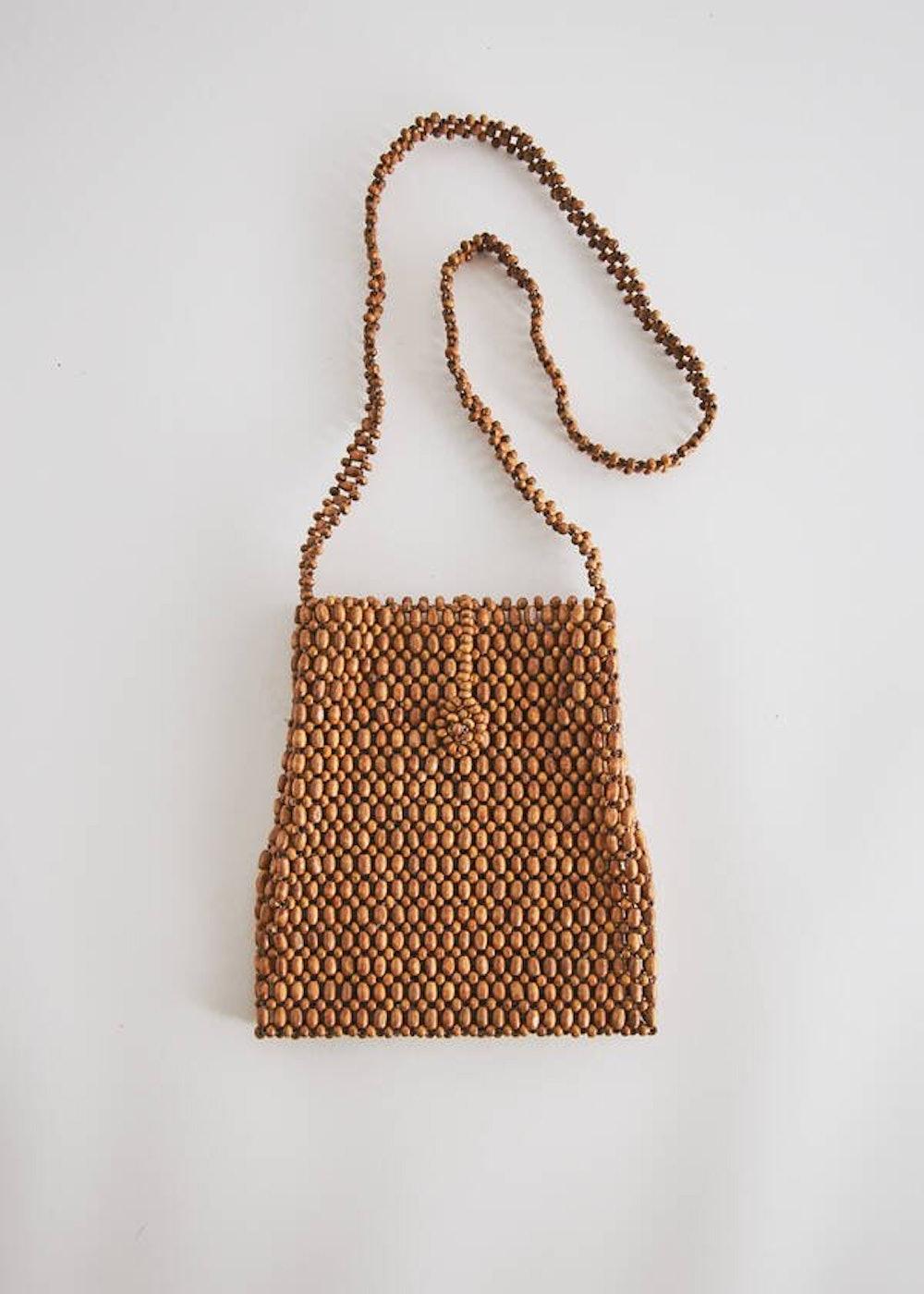Colombia Wood Bag in Ecru