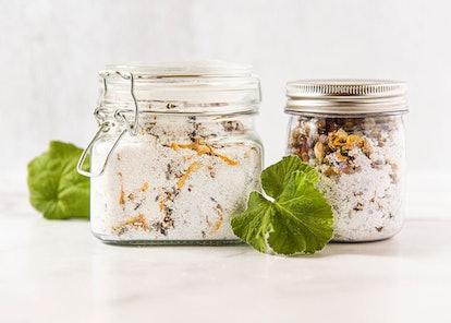 Botanical Bath Salt In A Jar