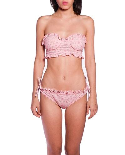 Rosebuds Strapless Swimsuit