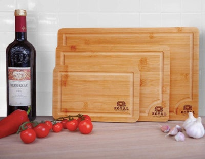 Royal Craft Wood Bamboo Cutting Boards (Set of 3)