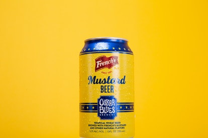 French's mustard beer is here for national mustard day.