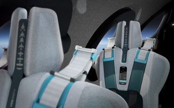 The rear screen on the seats.