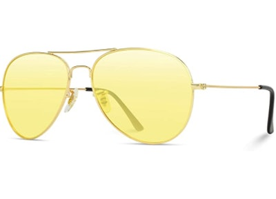 Classic Aviator Style Sunglasses With Colored Lens