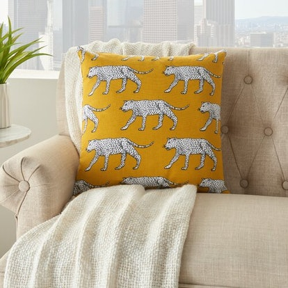 Castanea Cotton Animal Print Throw Pillow