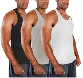 DEVOPS Men's Y-Back Tank Tops (3-Pack)