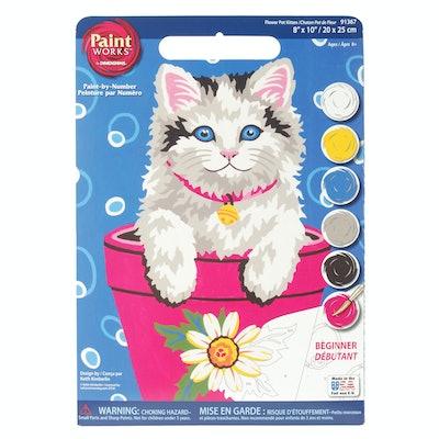 Dimensions Paint Works Flower Pot Kitten