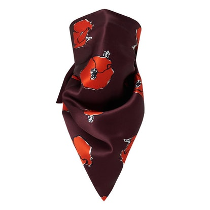The Falling Poppies Scarf Mask