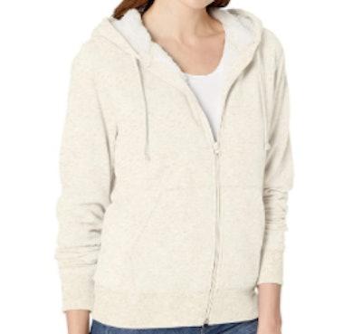 Amazon Essentials Sherpa-Lined Fleece Full-Zip Hooded Jacket