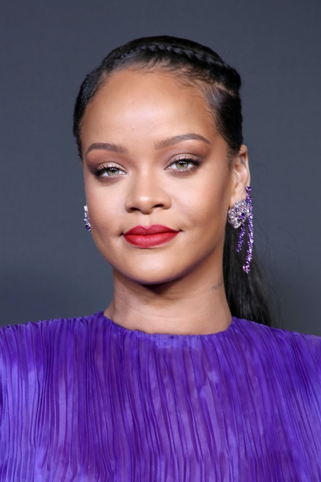 Rihanna poses with the President's Award at the 51st NAACP Image Awards, Presented by BET, at Pasadena Civic Auditorium on February 22, 2020 in Pasadena, California.