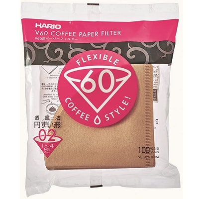 Hario Size 2 Natural Paper Cone Coffee Filters (100-Count)