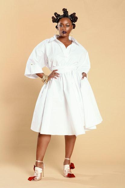White Midi Shirt Dress