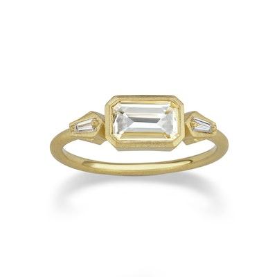 Lantern Diamond Engagement Ring