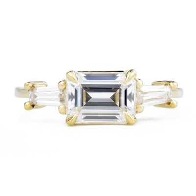 Three-Stone Baguette Engagement Ring