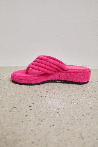 Terry Cloth Fleece Sandals