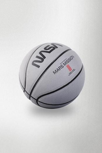A Mars-branded basketball.