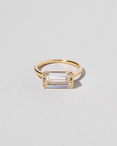Emerald Cut Diamond Solitaire Ring