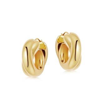 Lucy Williams Gold Chunky Entwine Hoops