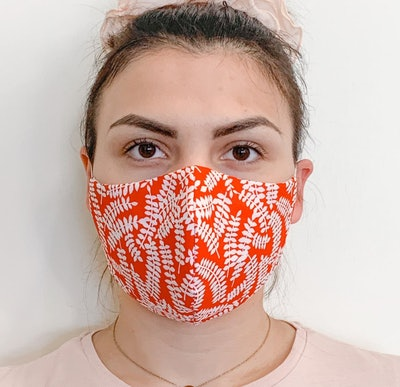 Nose Wire Adjustable Ear Loops Triple Layer Cotton Face Mask