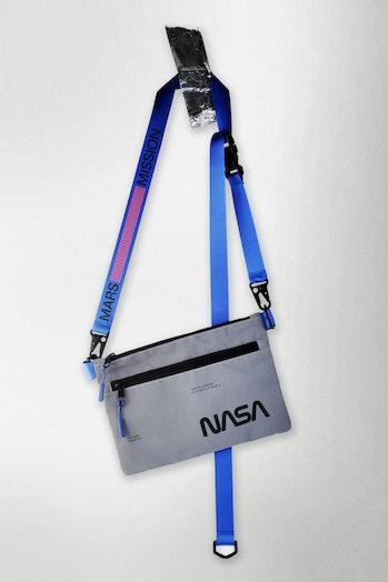A NASA-branded bag.