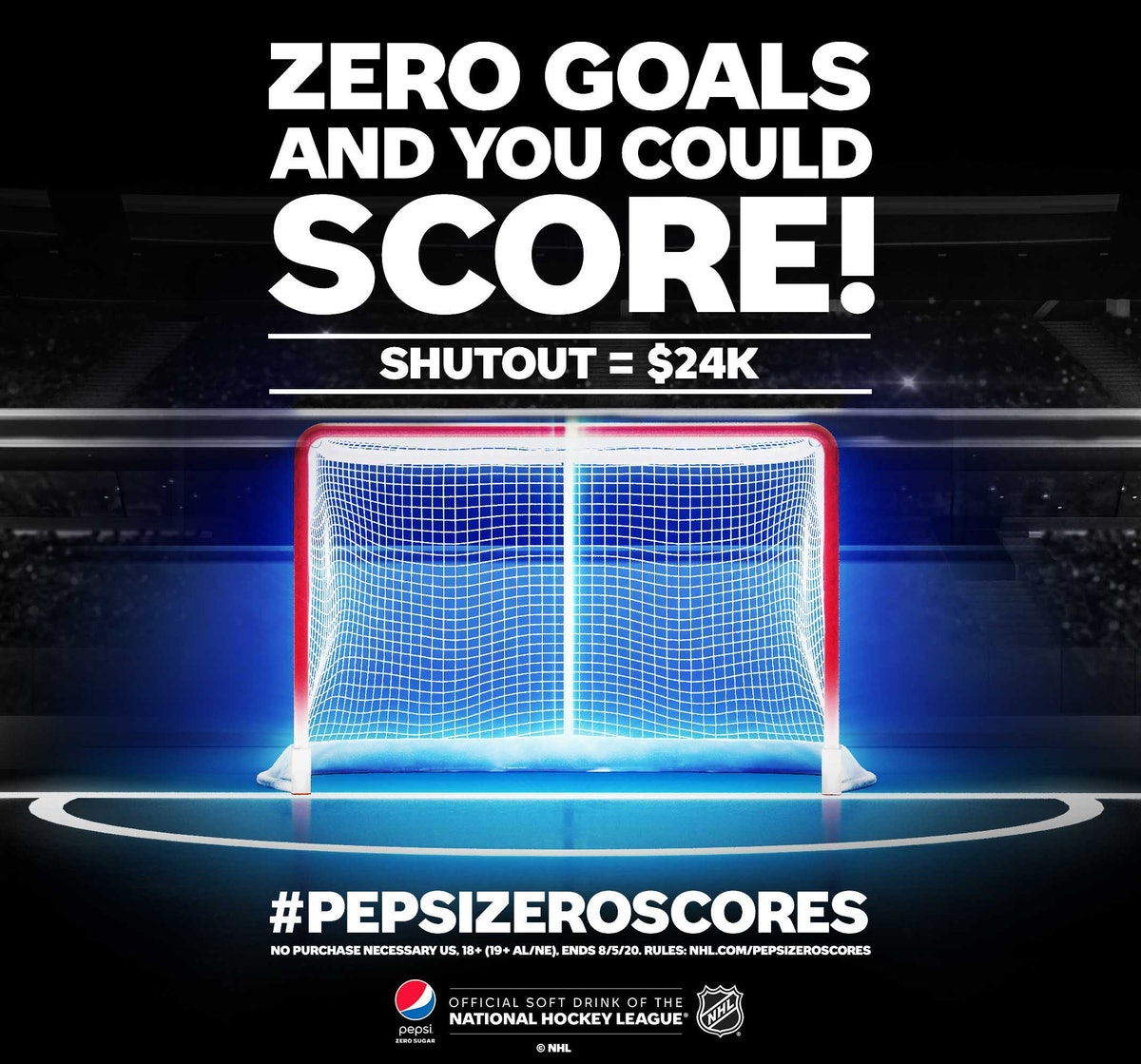The Pepsi Zero Scores 2020 NHL Sweepstakes could win you $24,000.