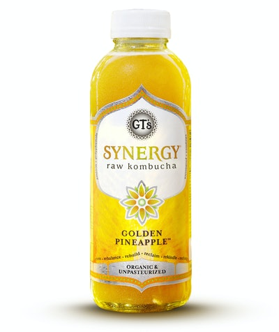 GT's Synergy Kombucha Golden Pineapple 12 Pack