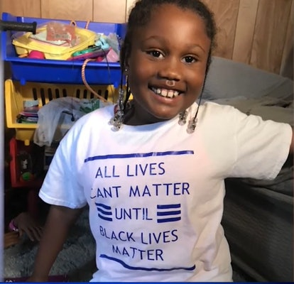 """A young girl could not return to her child care center after wearing a """"Black Lives Matter"""" t-shirt."""