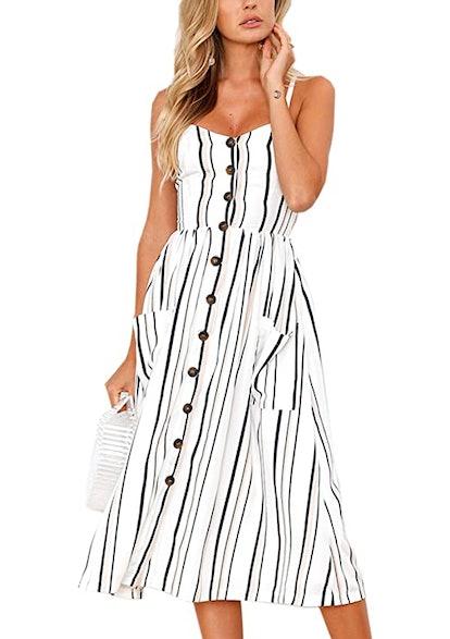 Angashion Summer Midi Dress