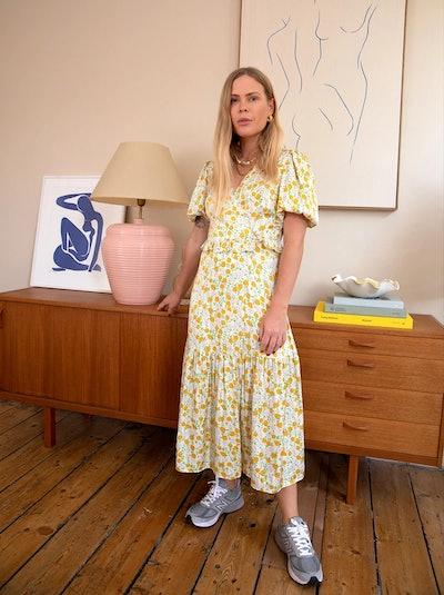 Connie Floral Print Wrap Dress