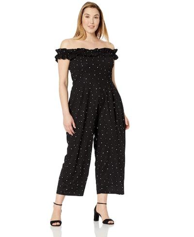 City Chic Apparel Women's Plus Size Off Shoulder Ruffle Jumpsuit