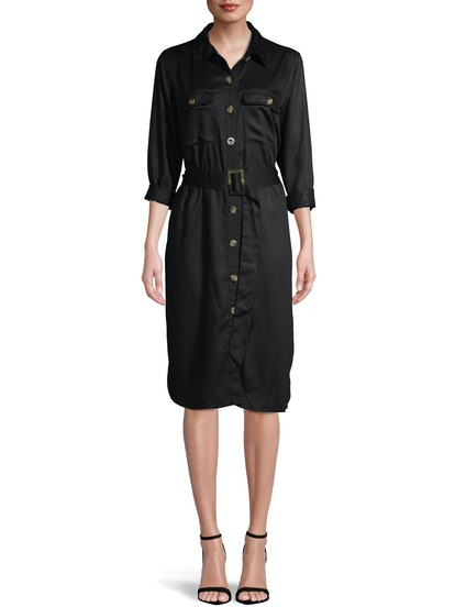Women's Woven Utility Shirt Dress
