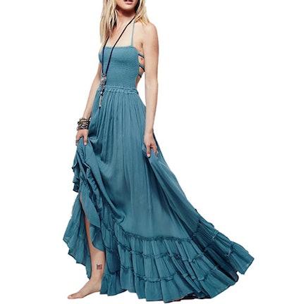 R.Vivimos Womens Long Cotton Dress