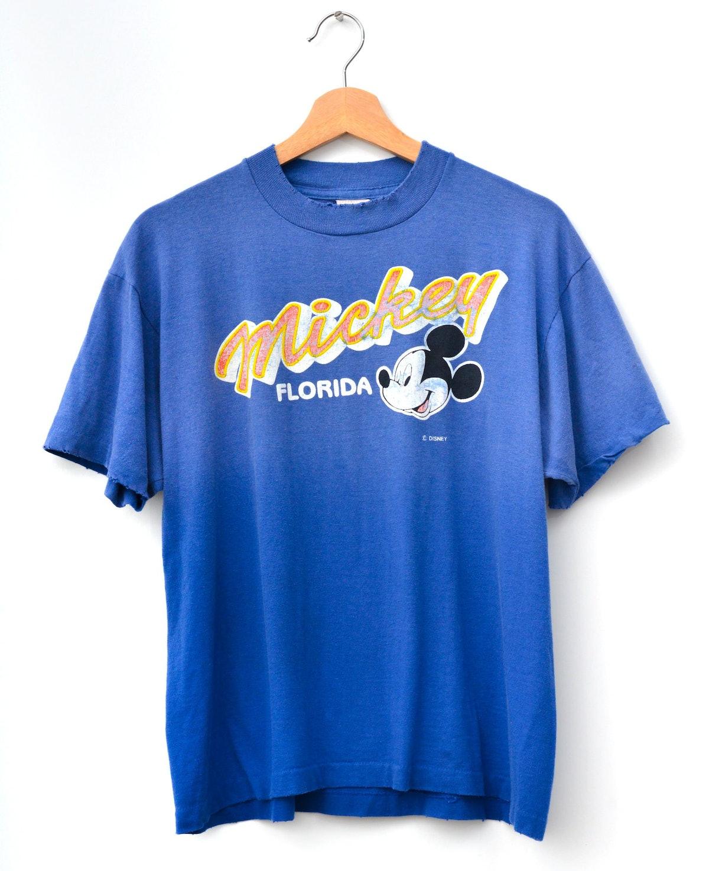 Vintage Mickey Tee - Deep Blue