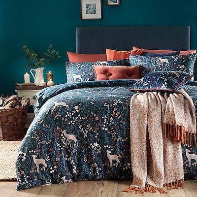 Richmond Midnight Blue Duvet Cover and Pillowcase Set