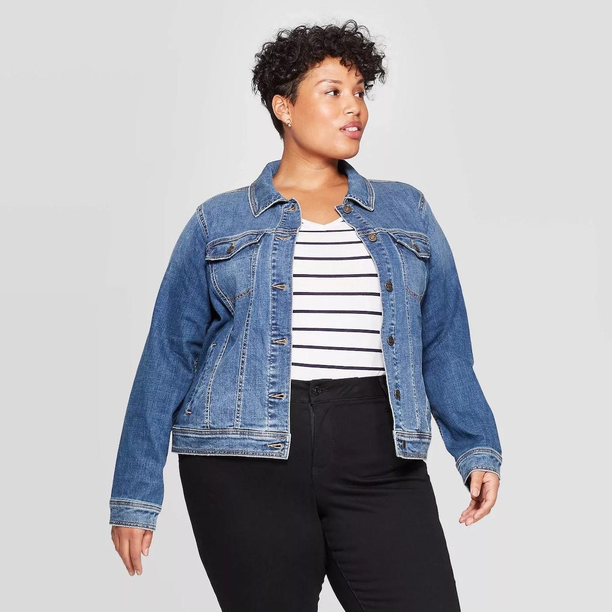 Ava & Viv Women's Plus Size Jean Jacket