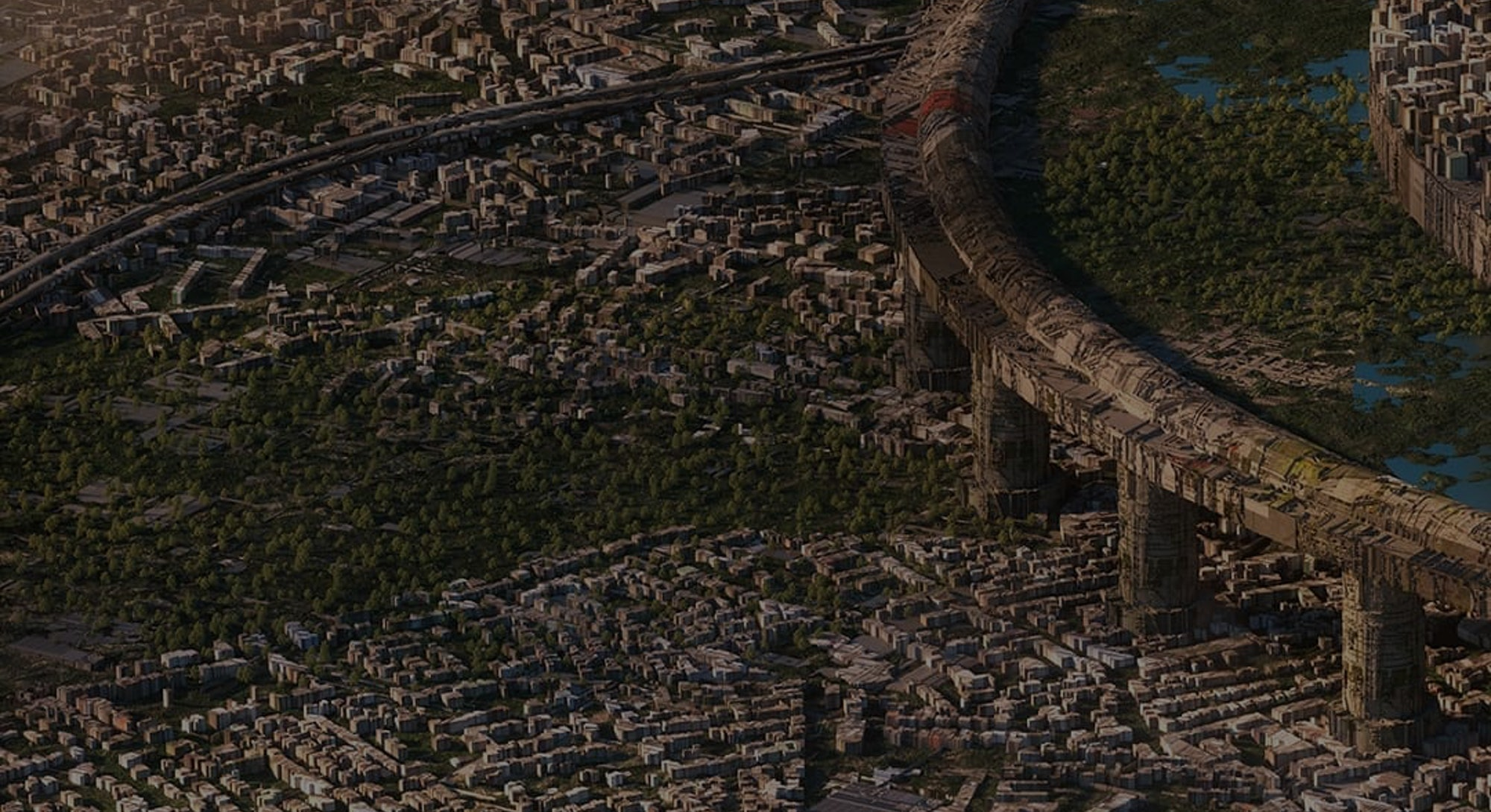 Graphic artist InwardSound creates detailed rendering of a city.