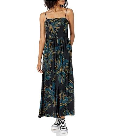 Goodthreads Women's Georgette Smock-Back Cami Maxi Dress