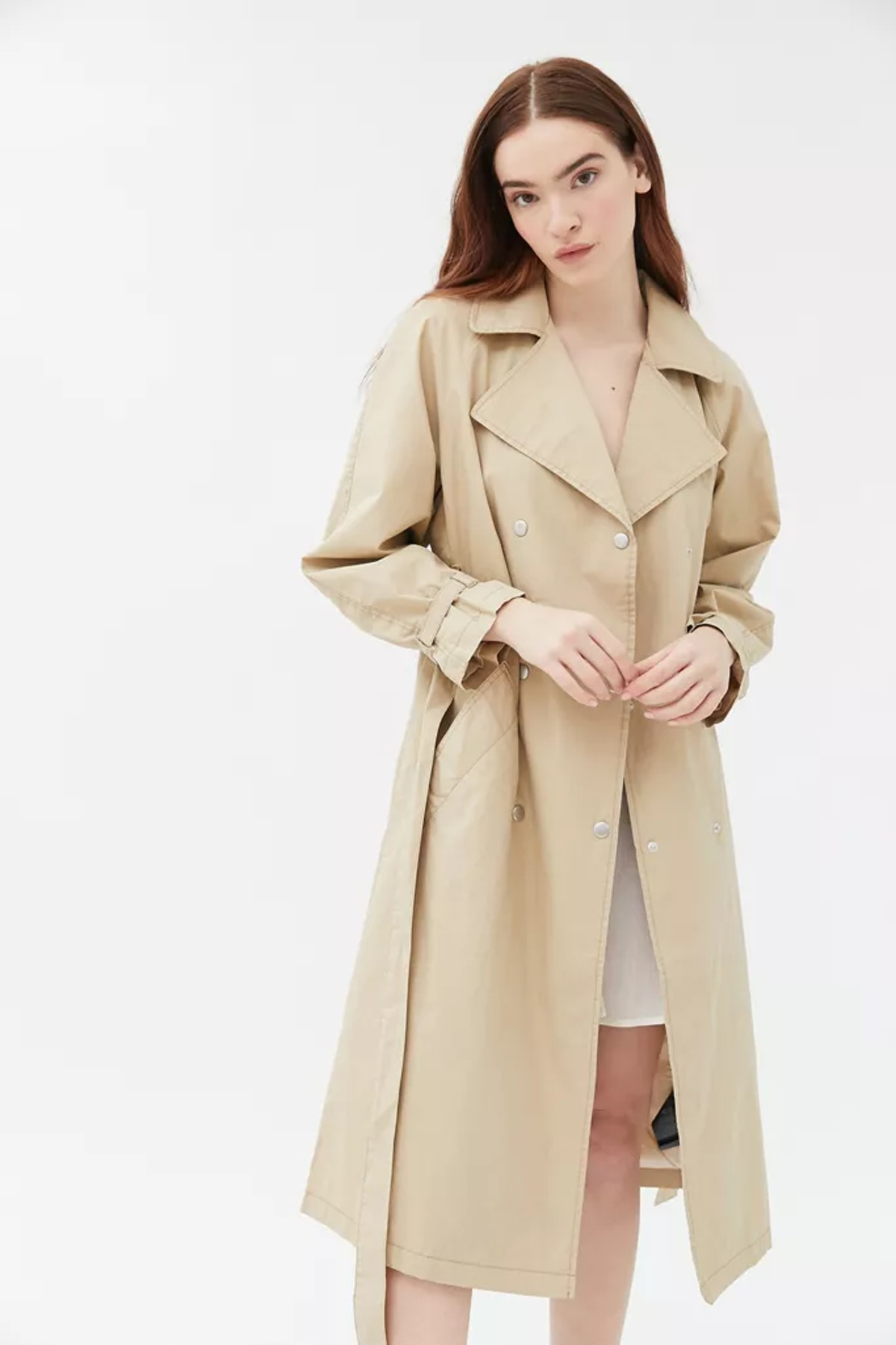 UO Margot Belted Trench Coat
